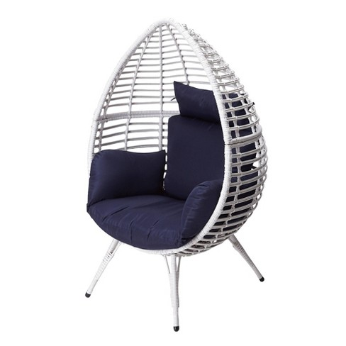 Wicker Patio Egg Chair White - Peaktop - image 1 of 4
