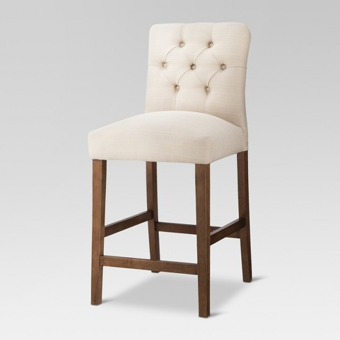 Brookline Tufted 25 Quot Counter Stool Chestnut Finish