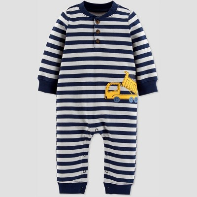 Baby Boys' 1pc Construction Jumpsuit - Just One You® made by carter's Navy/Gray 9M