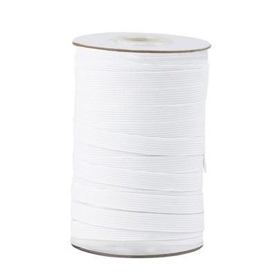 Elastic Spool - White Sewing Elastic Band, Braided Stretchy High Elasticity Roll for DIY Crafts, Clothes, Waistband, 109 Yards in Length 0.5 Inches