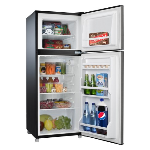 Whirlpool 4 6 cu ft Compact Refrigerator - Stainless Steel BCD-133V62