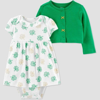 Baby Girls' 2pc St. Patrick's Day Dress Set - Just One You® made by carter's Green 3M