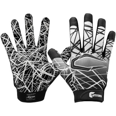 Cutters Game Day Receiver Adult Gloves Black - M