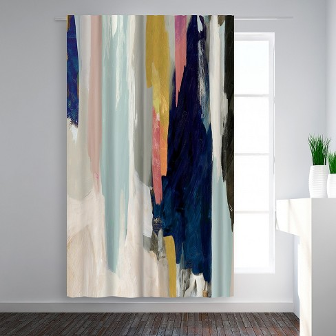 Americanflat Somber By Pi Creative Art Blackout Rod Pocket Single Curtain Panel 50x84 Target