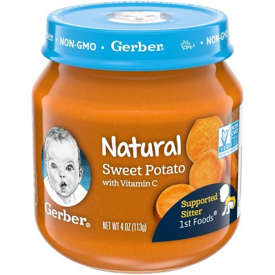 Gerber Natural Glass 1st Foods Sweet Potato Baby Meals - 4oz