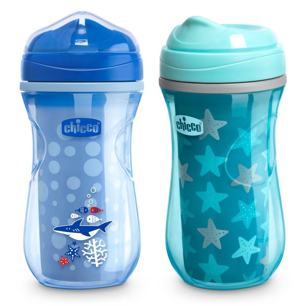 Image of Chicco Insulated Rim Spout Trainer Sippy Cup - 9oz 12m+ Blue