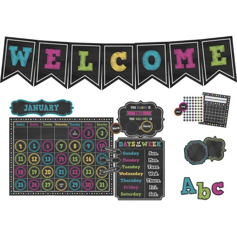 Teacher Created Resources Chalkboard Brights Bulletin Board - image 1 of 1