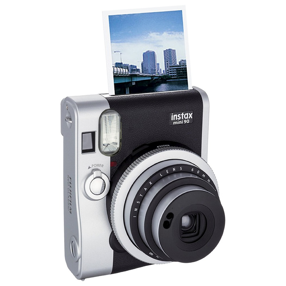 Fujifilm Instax Mini 90 Neo Classic Instant Film Camera - Black/ Gray (16404571) Take snapshots that you'll want to keep forever with the Fujifilm Instax Mini 90 Neo Classic Instant Film Camera (16404571). The Fujifilm camera features a lens, flash and batteries to help capture your fun and clever photos. Fujifilm instant film sold separately. Color: Black.