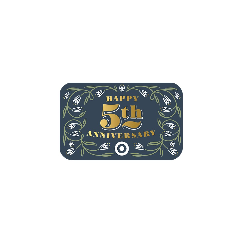 Happy 5th Anniversary GiftCard $30
