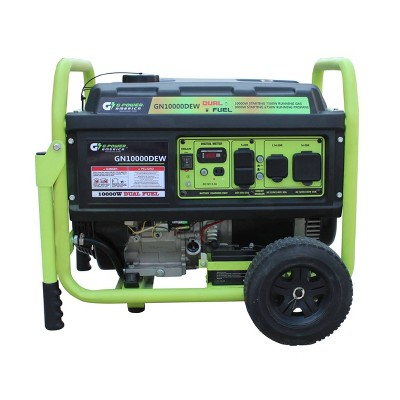 Green-Power 10000w/7500w Dual Fuel Gas/Propane Powered GN10000DEW Portable Generator