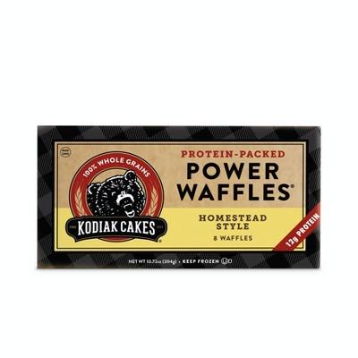 Kodiak Cakes Frozen Power Waffles Homestead Style  - 10.72oz/8ct