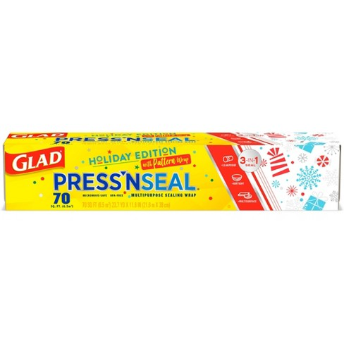 Glad Press'n Seal Plastic Food Wrap - Holiday Edition - 70 sq ft - image 1 of 4