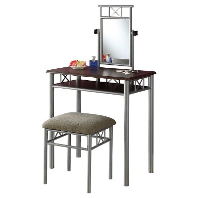 2 Piece Vanity Set - Silver - EveryRoom
