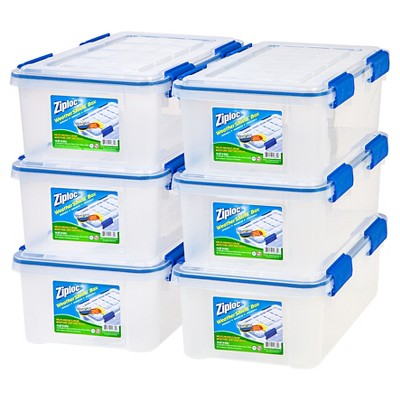 Ziploc 16qt Weather Shield Clear Storage Box - 6pk