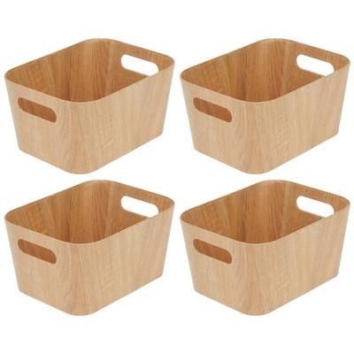 mDesign Kitchen Food Storage Organizer Bin - Natural/Tan
