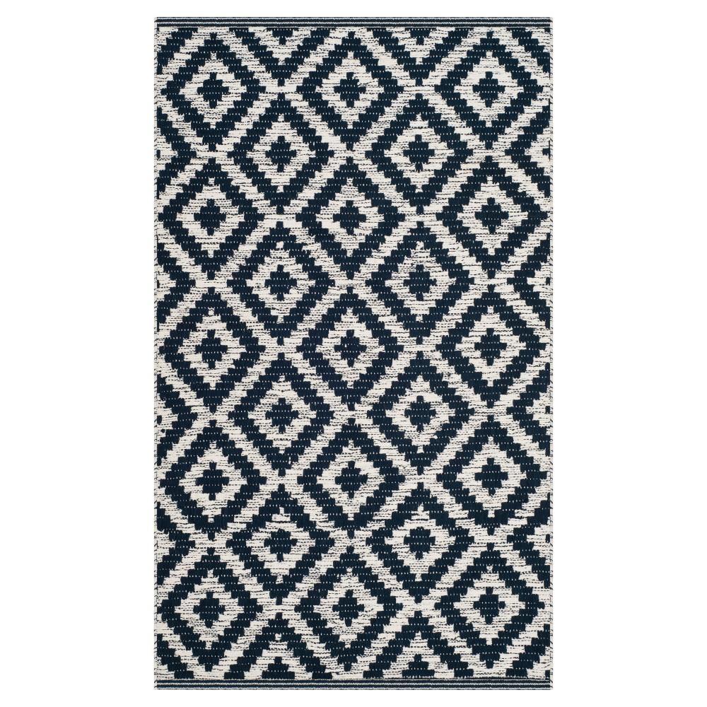 Navy/Ivory (Blue/Ivory) Geometric Woven Area Rug 8'X10' - Safavieh