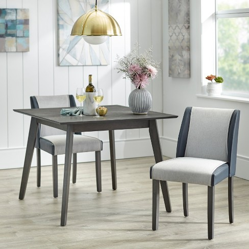 3pc Grayson Dining Set Gray/Navy - angelo:Home - image 1 of 4