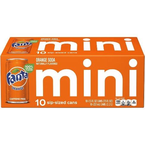 Fanta Orange Soda - 10pk/7.5 fl oz Mini-Cans - image 1 of 3