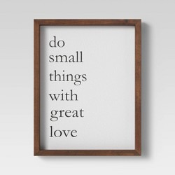"11"" X 17"" ""Do Small Things With Love"" Framed Wall Canvas - Threshold™"