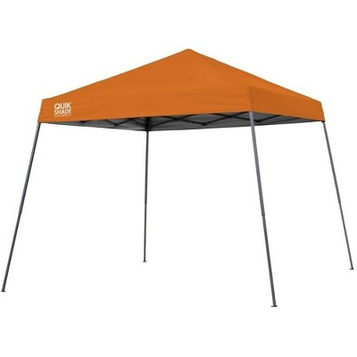Quik Shade 160719 Expedition 10 Foot x 10 Foot Instant Pop Up Outdoor Shaded Canopy Tent Shelter for Up to 12 People, Orange