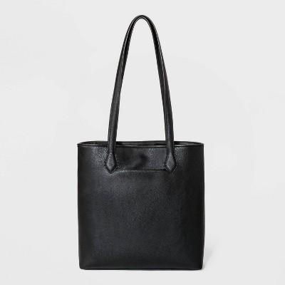 Magnetic Closure Tote Handbag - Universal Thread™ Black