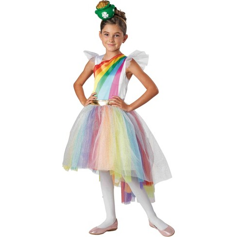 42127607 Girls' Rainbow Pot Of Gold St. Patrick's Day Costume : Target
