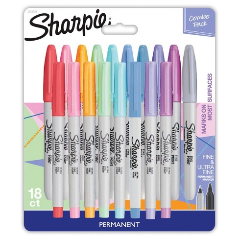 18ct Permanent Markers Pastel Pack Fine Ultra Fine - Sharpie - image 1 of 4
