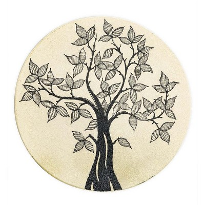 Wind & Weather Decorative Garden Stone with Hand-Drawn Tree of Life
