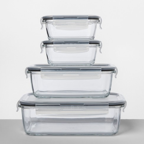 Rectangular Gl Food Storage Container 8pc Set Made By Design
