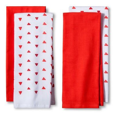 4pk Red&nbspShapes&nbspKitchen Towel&nbsp - Room Essentials™