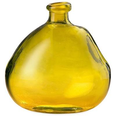 "VivaTerra Askew Recycled Glass Balloon Vase, 9"""