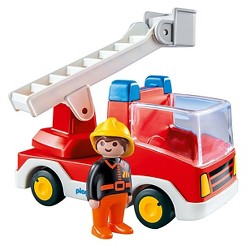 Playmobil 1.2.3 Ladder Unit and Fire Truck
