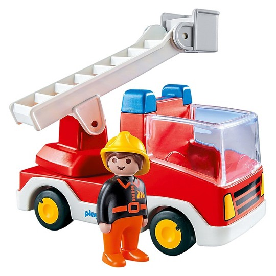Playmobil 1.2.3 Ladder Unit and Fire Truck image number null