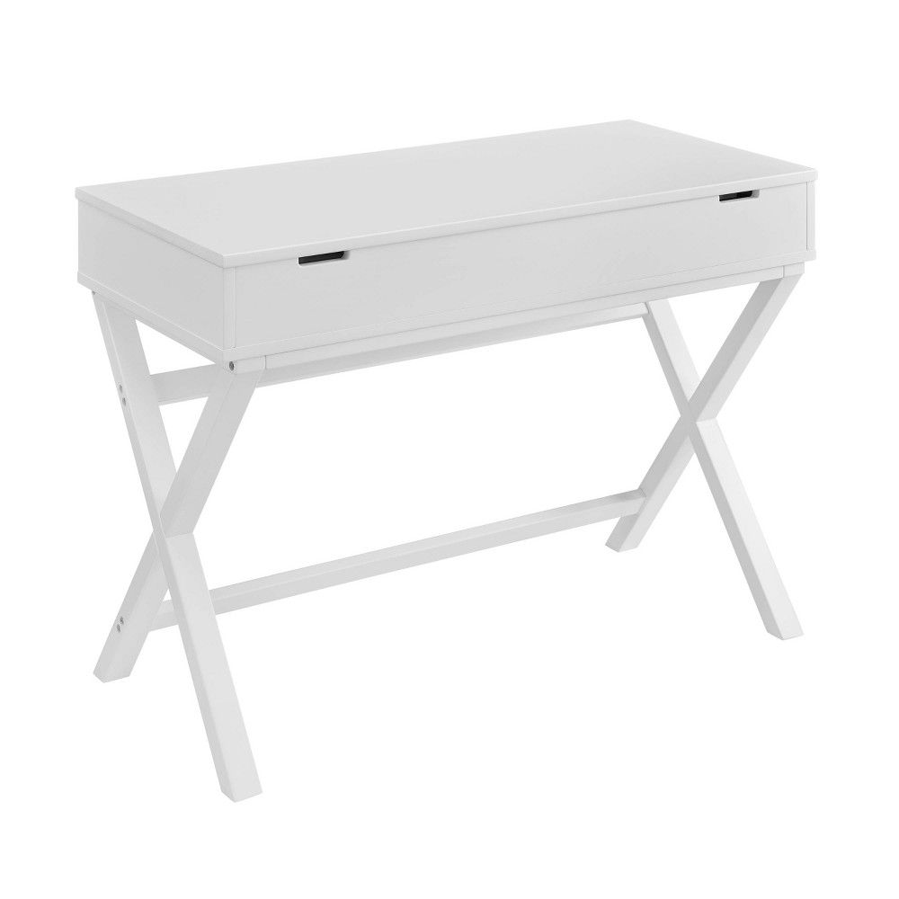 Peggy Lift Top Stand Up Desk White Linon