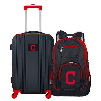 MLB Cleveland Indians 2 Pc Carry On Luggage Set