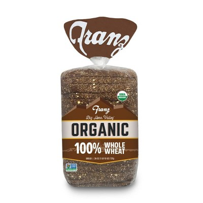 Franz 100% Whole Wheat Organic Bread - 26oz