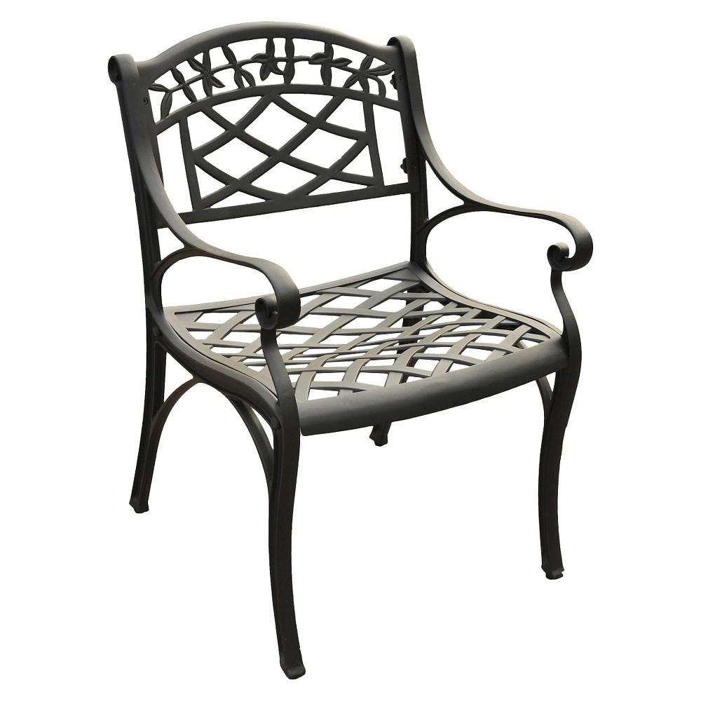 Crosley Sedona Cast Aluminum Arm Chair in Charcoal Black Finish (Set of 2)
