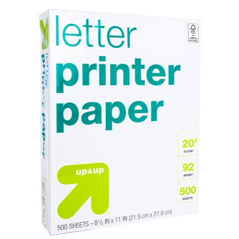 500ct Letter Printer Paper White - up & up™ - image 1 of 1