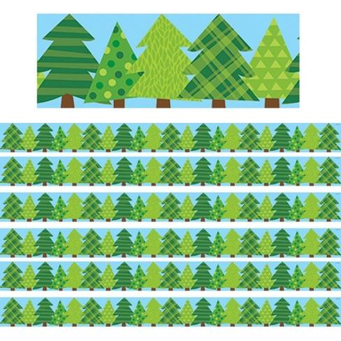 6pk 35ft Woodland Friends Pine Trees Classroom Borders - Creative Teaching Press - image 1 of 2