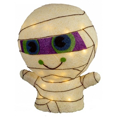 14'' Halloween Incandescent Sisal Mummy White - Hyde and Eek! Boutique™
