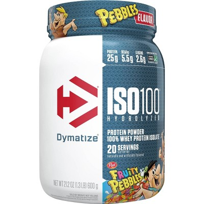 Dymatize 100% Whey Isolate ISO100 Hydrolyzed Protein Powder - Fruity Pebbles - 21.2oz