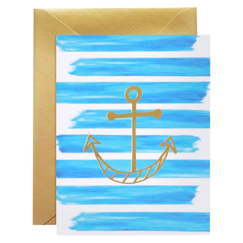 Best Buy Meant To Be Sent Striped Anchor Notecards 8 Ct Multi Colored