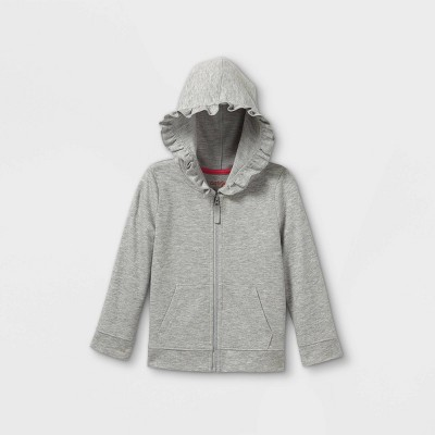 Toddler Girls' Zip-Up Hoodie Sweatshirt - Cat & Jack™
