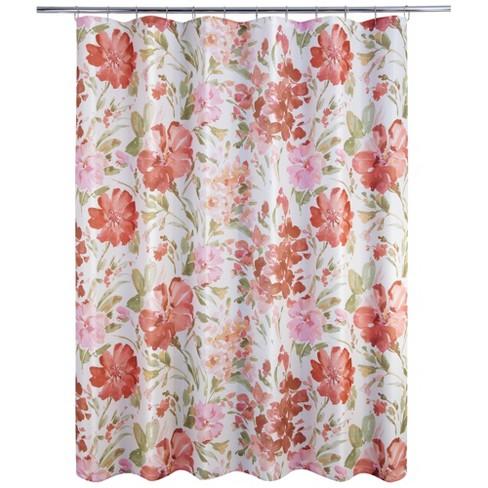 Paint Pallet Floral Shower Curtain