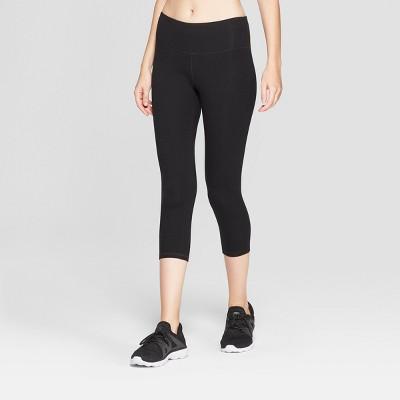 Women's Cotton Mid-Rise Capri Leggings 20  - C9 Champion® Black XXL