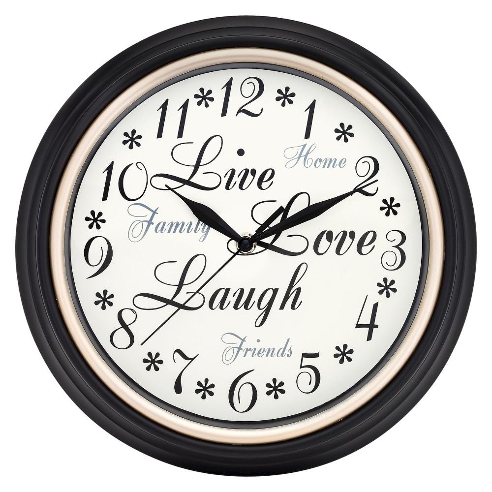 Inspirations Wall Clock White/Black - Westclox