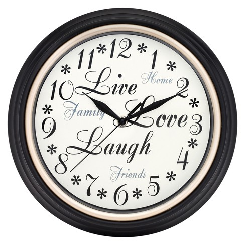 Inspirations Wall Clock White/Black - Westclox® - image 1 of 2