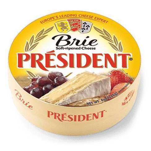 President Brie Cheese Wheel - 8oz - image 1 of 2
