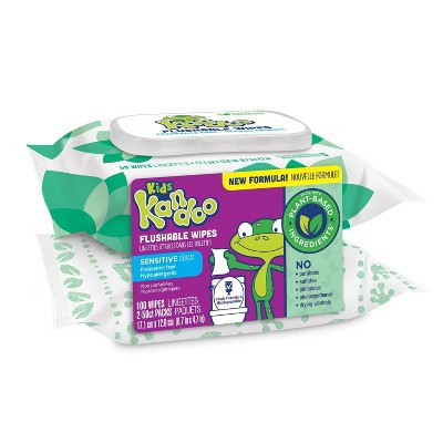 Kandoo Flushable Wipes with Flip Top - 100ct