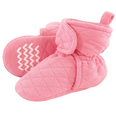 Hudson Baby Infant and Toddler Girl Quilted Booties, Begonia